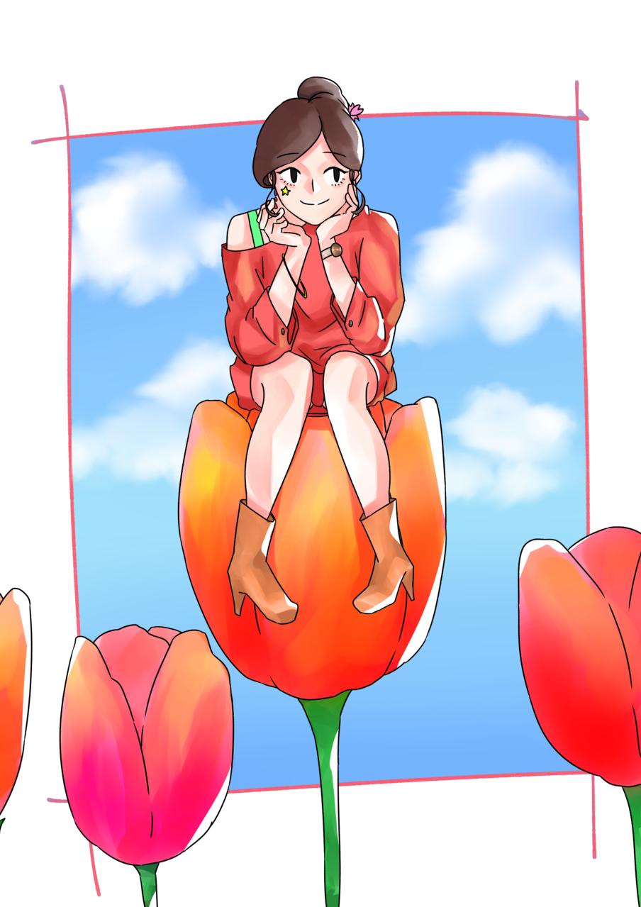 春 Illust of ハン January2021_Contest:OC original girl 春