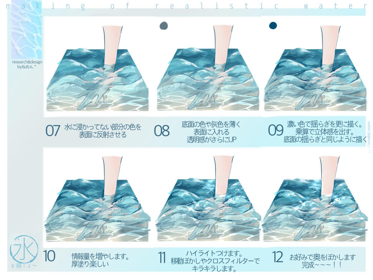 水メイキング Illust of ねおん* water メイキング sea