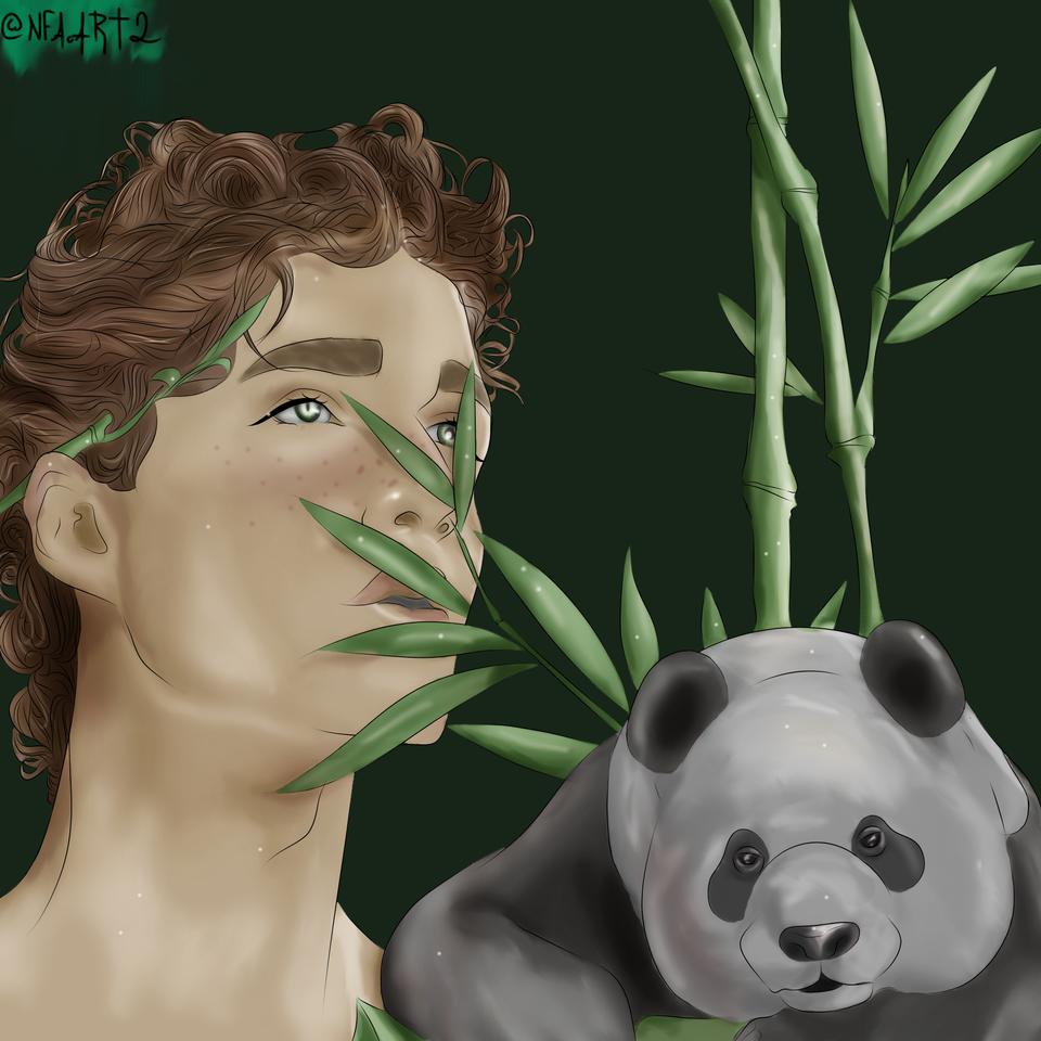Panda Illust of NFA.ART2 character drawing comissions digital illustration opencommissions