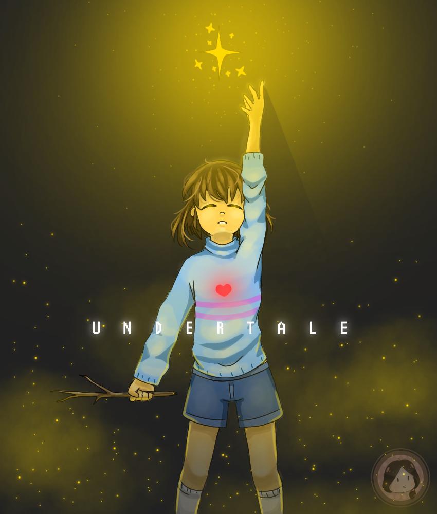Undertale❤✨ Illust of Amai☆ medibangpaint Frisk savepoint star undertale determination