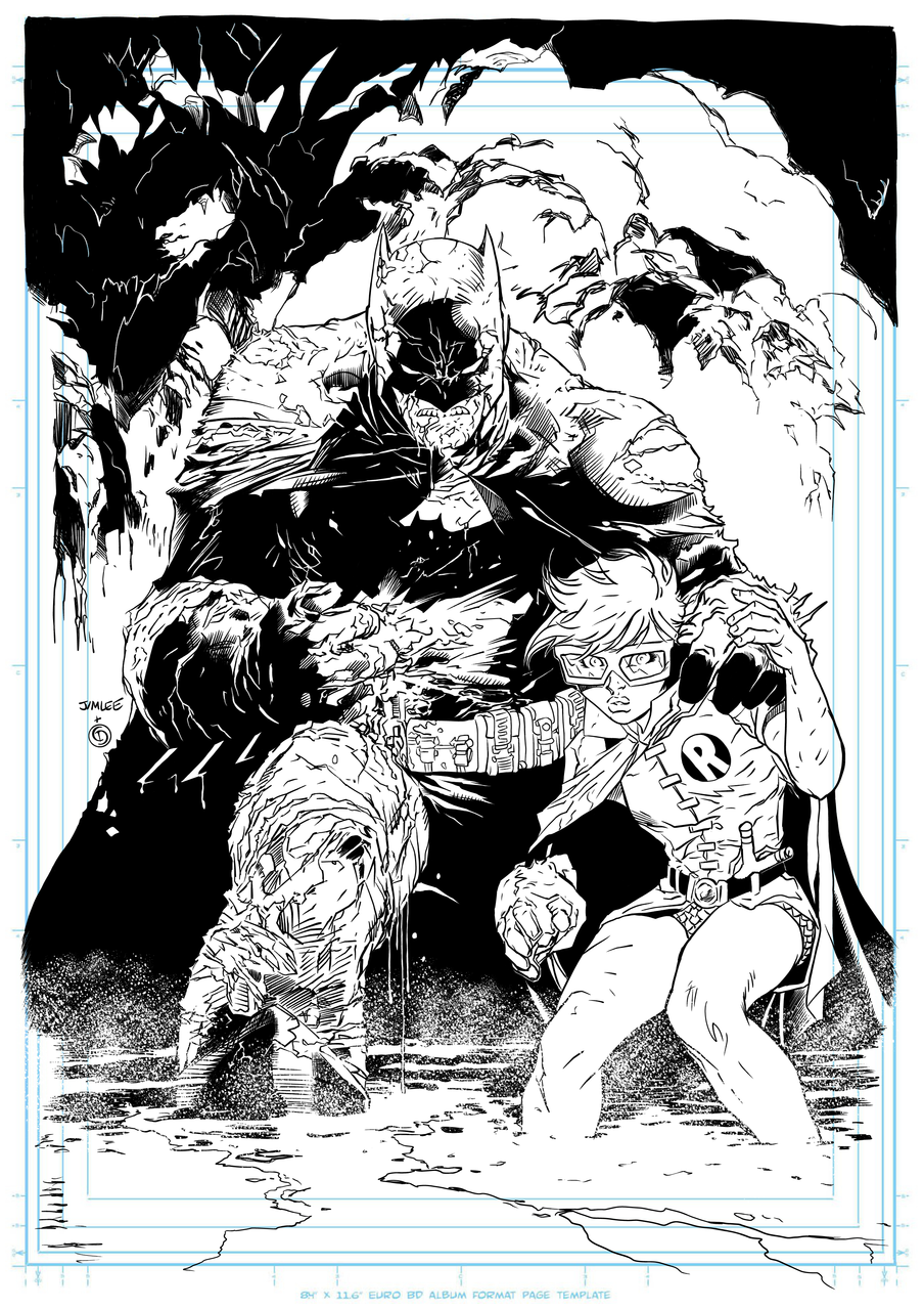 digital ink over jim lee pencil