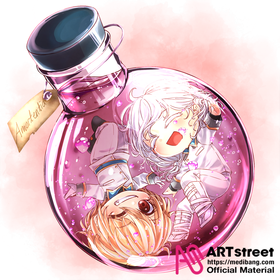 Amortentia  Illust of AkiHaru tracedrawing ilustration medibangpaint ADORABLE couple lovepotion Trace&Draw【Official】