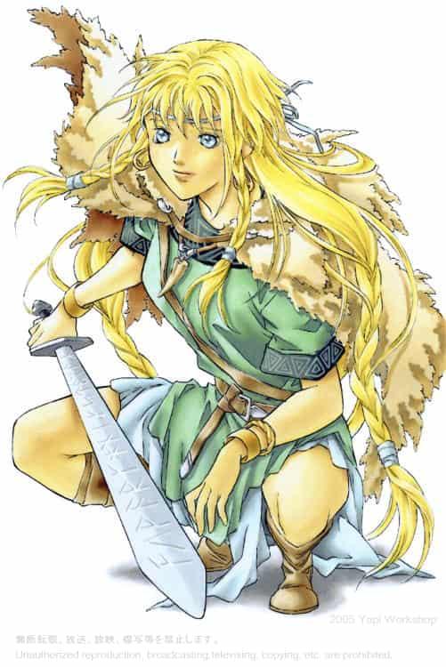 ベルセルクの少女 Illust of よーぴーワークショップ 戦士 girl 北欧 character 古代 viking original