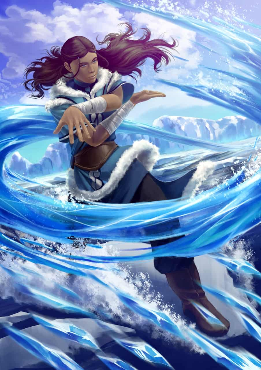 Sifu Katara Illust of artalais digitalpainting blue ATLA Katara water magic waterbender Strong