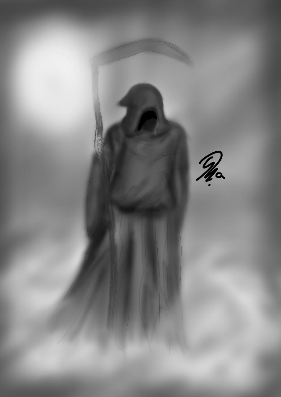 🖤Th€ gr!m r3@p€®☠️ Illust of Ph@nt0m horror August2020_Contest:Horror medibangpaint Death blackandwhite Scary Creepypasta