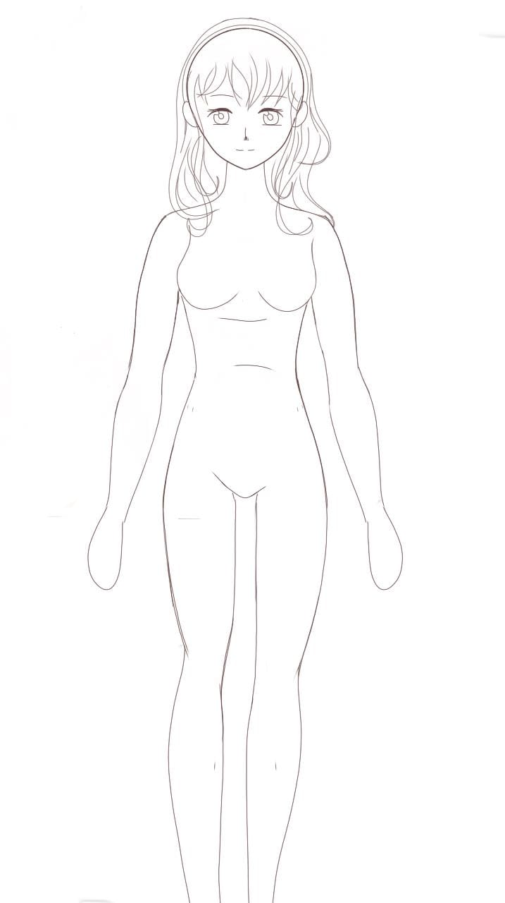 Première partie... Illust of Mamibangchbi base girl DESSIN MEDIBANG cute BELLE FILLE