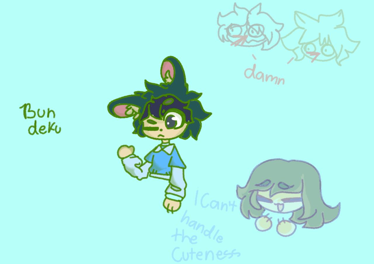 *trying to drew bun deku* Illust of DeKu._.W0lfy_the_wolf._.382YT💜 medibangpaint MyHeroAcademia bundeku bunny