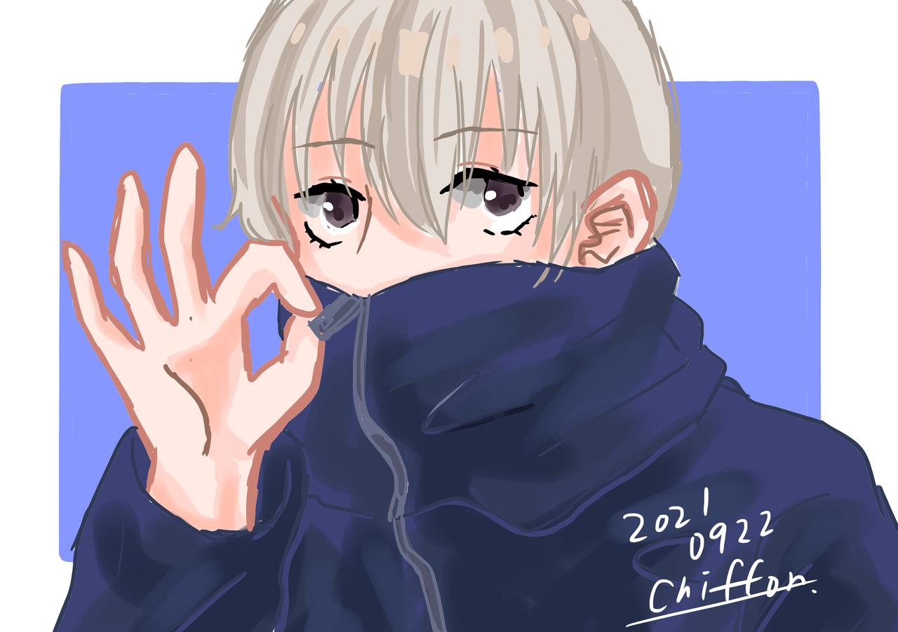狗巻棘くん🍙 Illust of シフォン🥑 おにぎり kawaii すじこ JujutsuKaisen かっこかわいい シフォン🐬 狗巻棘