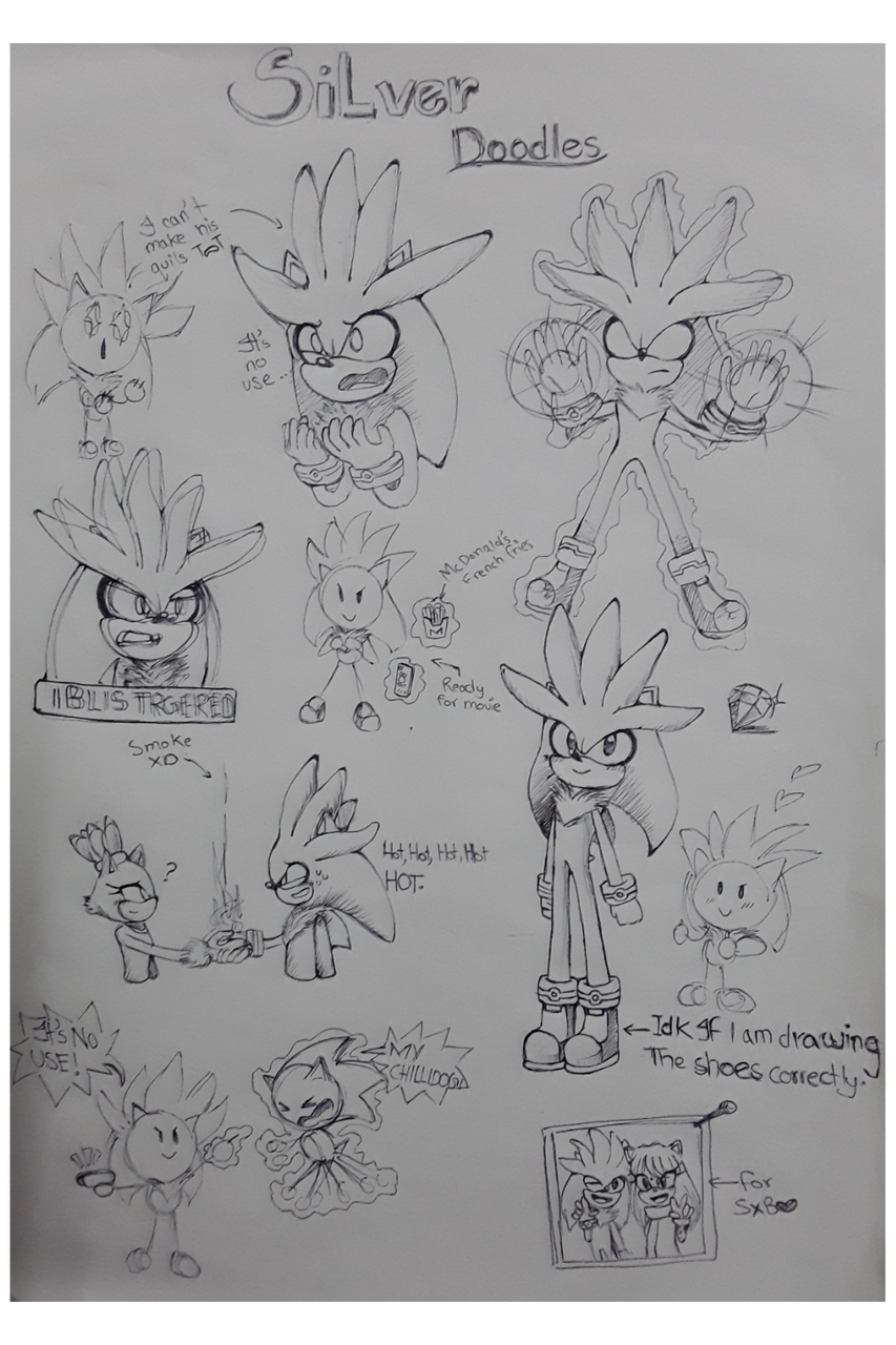 Who wants some silver doodles?!? Illust of Infinite stylez medibangpaint style Sonic doodles silver
