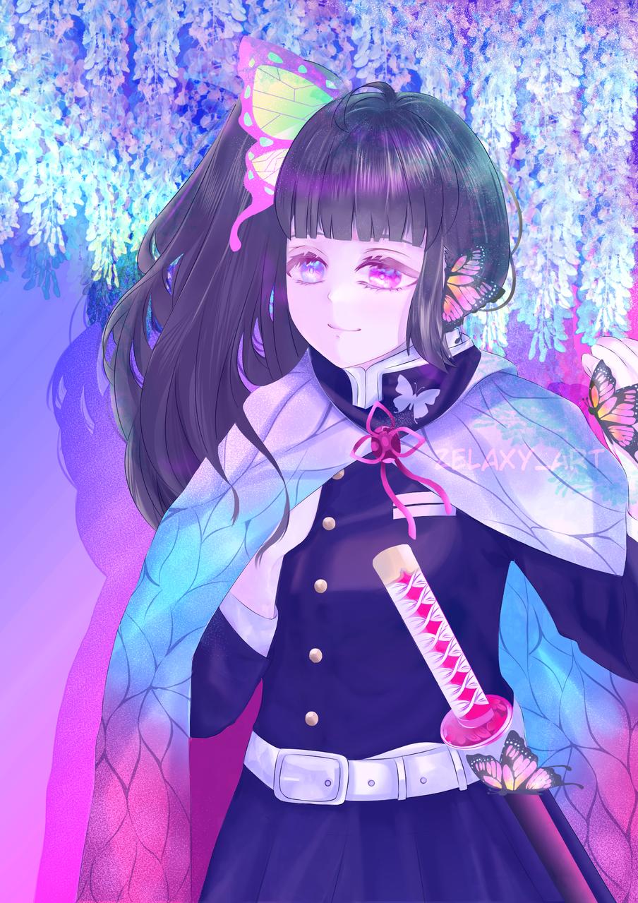 栗花落 カナヲ Illust of Zelaxy_art DemonSlayerFanartContest TsuyuriKanao medibangpaint KimetsunoYaiba iPad_raffle
