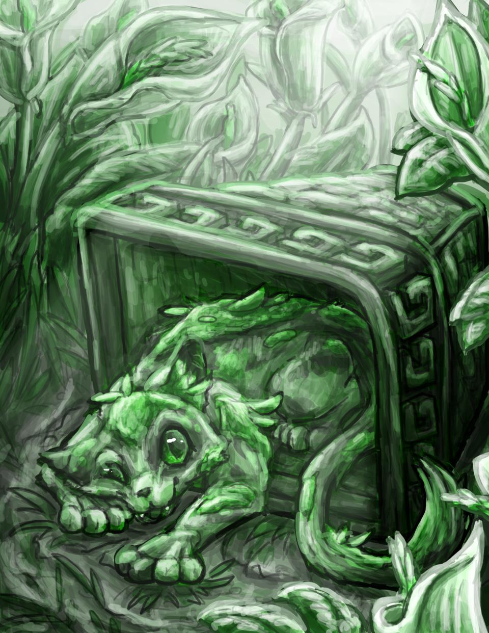 Illust of Cattestrophic May2021_Monochrome April2021_Flower original