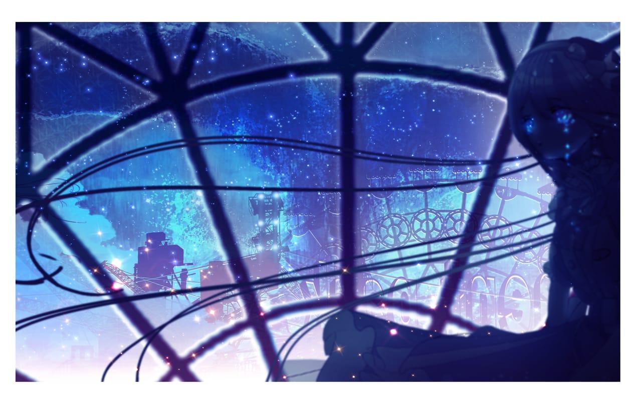 twilight Illust of まころん☆ illustration イラスト好きな人と繋がりたい fanart star kawaii art sky scenery 美少女 oc