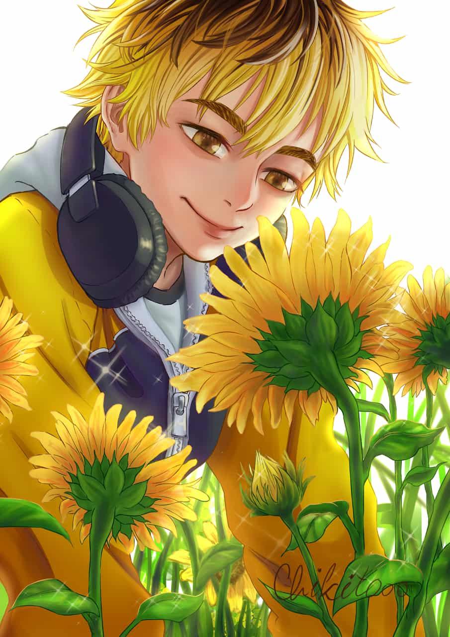 Brighter than the sun Illust of chikitooo sunflower fanart hideyoshinagachika tokyo_ghoul