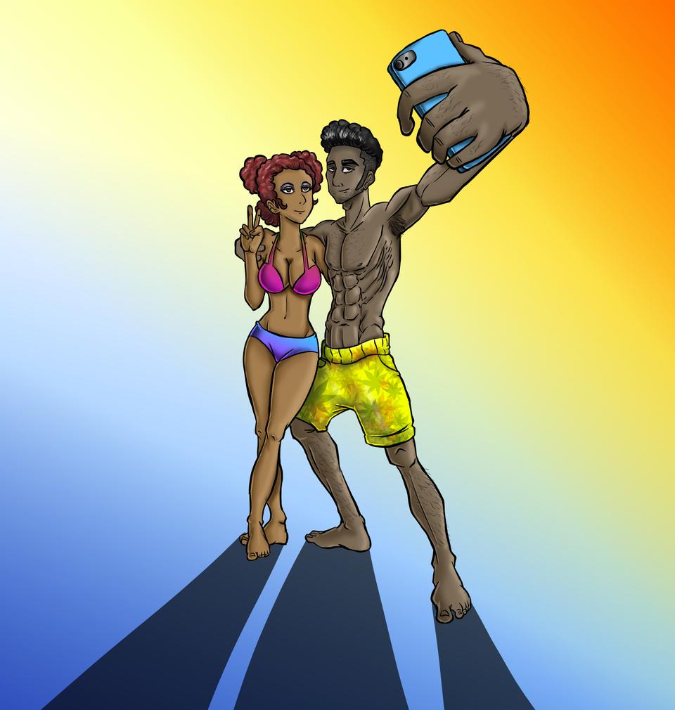 beach People Illust of Afenyi Afenyi medibangpaint selfie LetusLove havemercyLordJESUS artislove ebony colours bodybeach letusbeone weallmatter