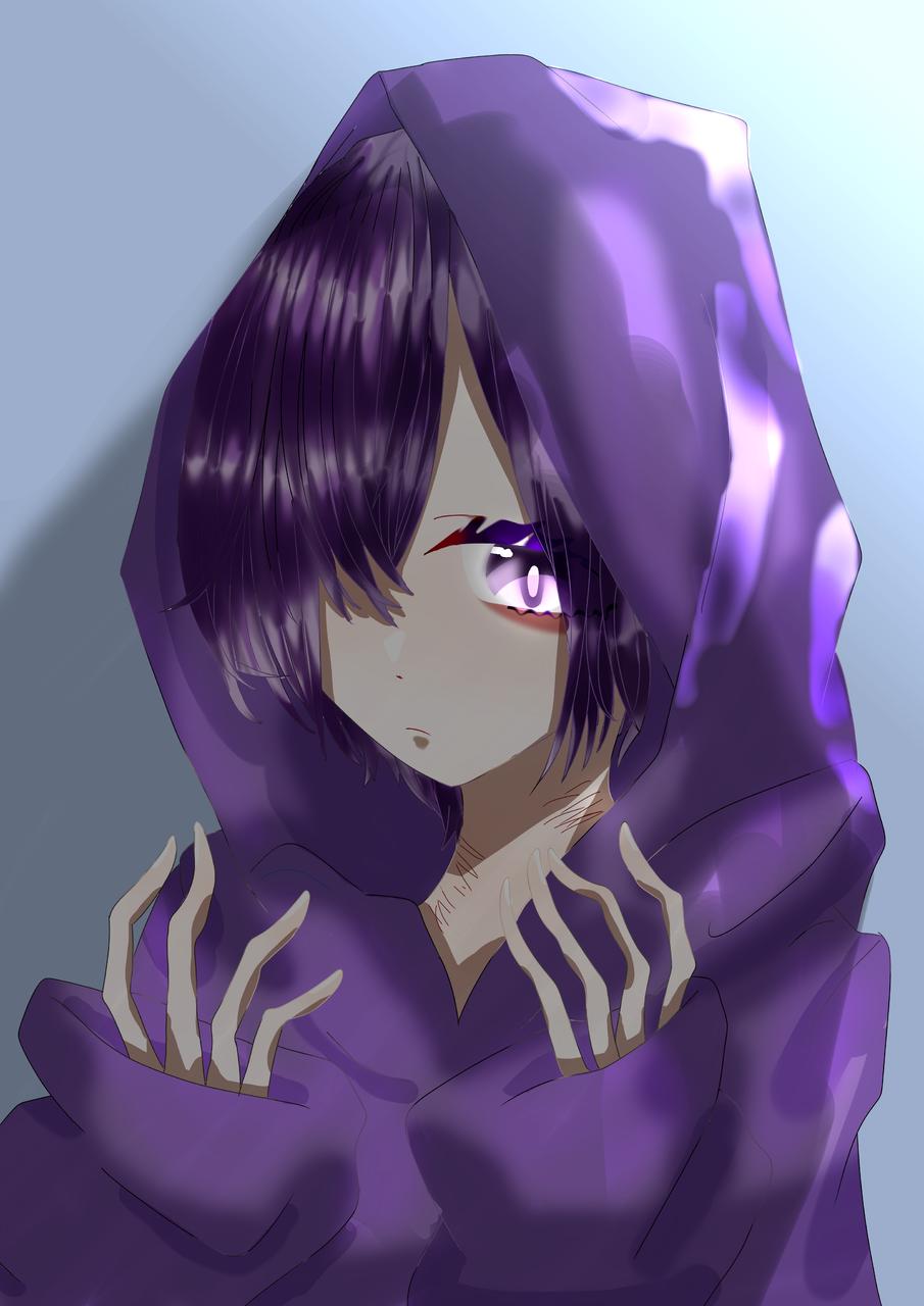 紫 Illust of 如月来蕾≮TRPG≯ medibangpaint hoodie purple boy フード Neckcut? oc