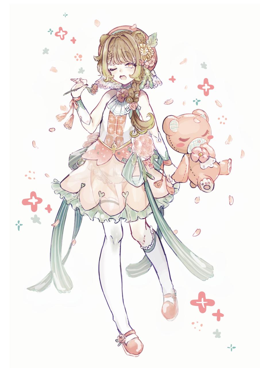 春の目覚め Illust of まららお23 February2021_Fantasy pink girl ファンタジーキャラ original 春 oc
