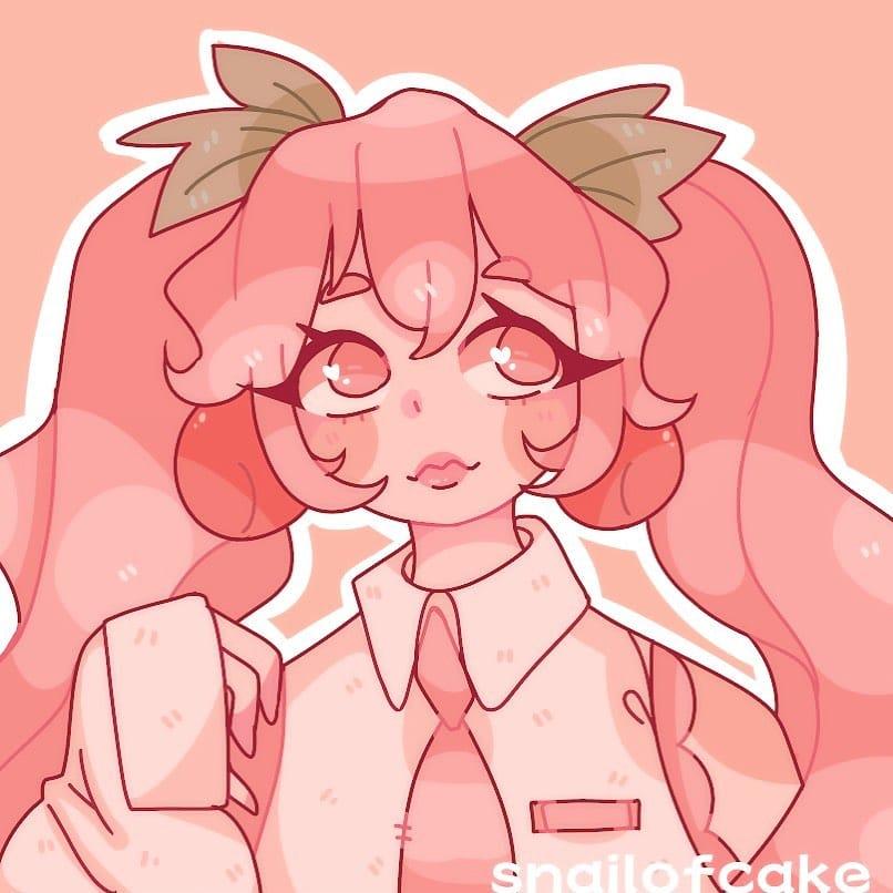 🍒Cherry Miku 🍒 Illust of snailofcake anime thisartshouldlvlup hatsunemiku pastel oc original art aesthetic kawaii cute