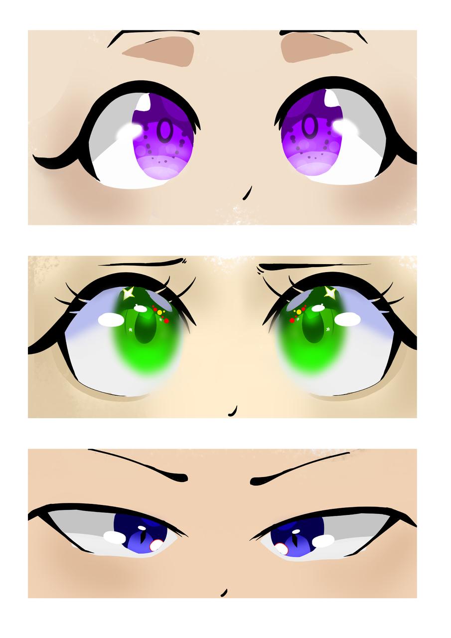 👀 Illust of ⊂((・⊥・))⊃ medibangpaint blue ⊂((・⊥・))⊃ Idk purple illustration eyes green
