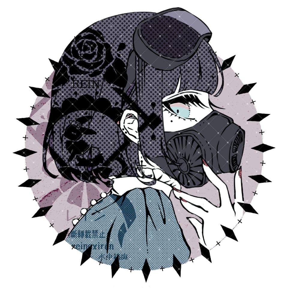 + イ ラ ス ト + Illust of レイン(っ´ω`c) mask girl original