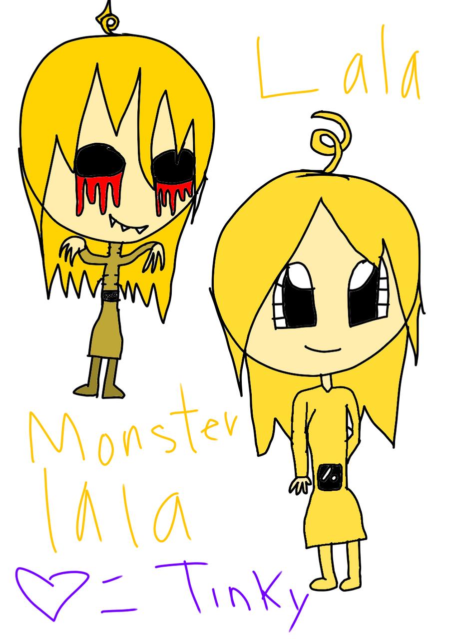 Monster Lala Slendytubbies Human Carolina イラスト アート