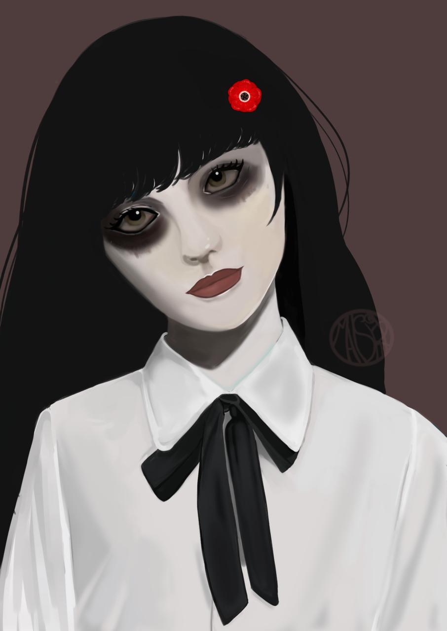 Gothic girl ( Uniform )  Illust of maishiro October2021_Contest:Uniform September2021_Girl medibang girl maishiro uniform