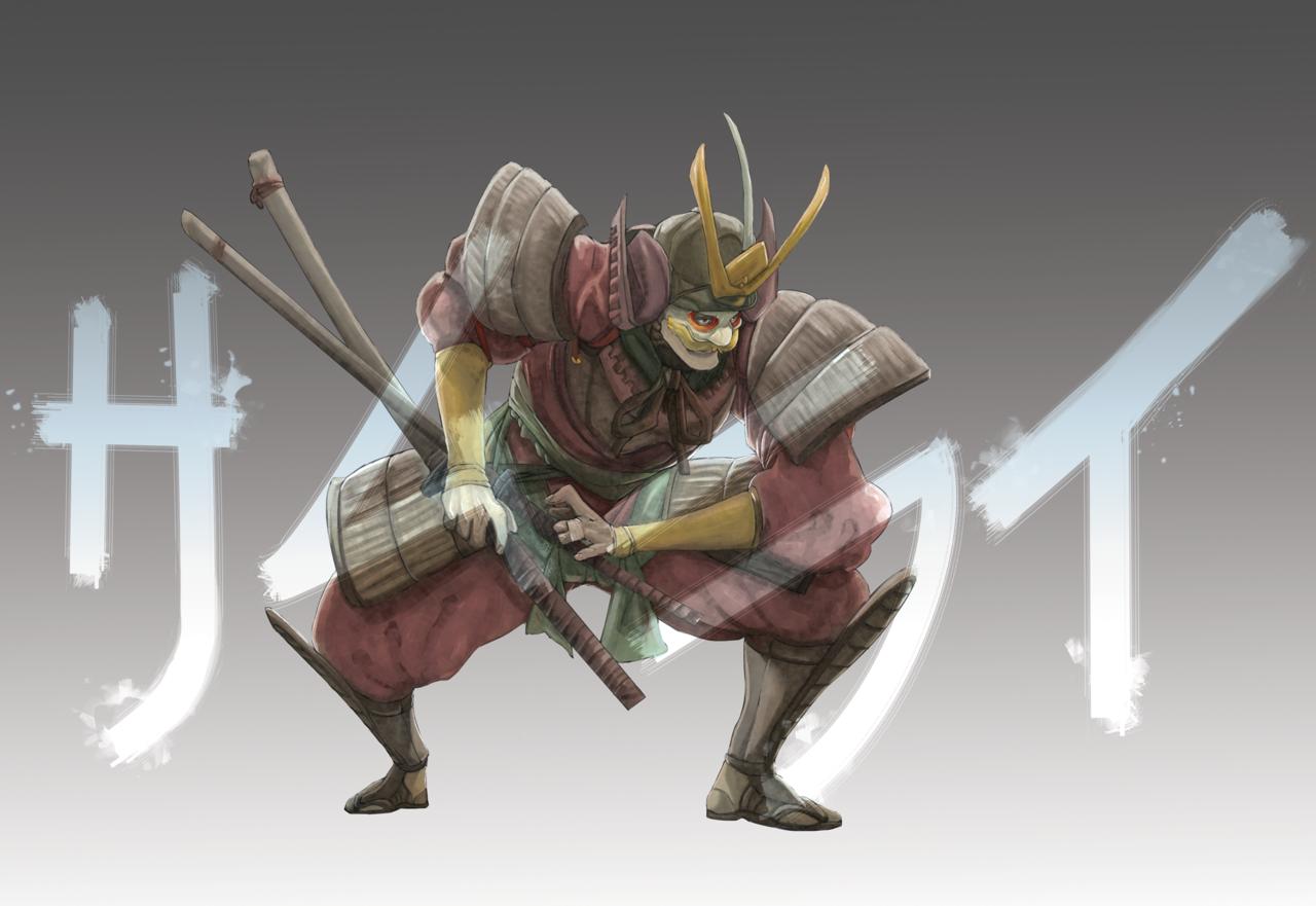 SAMOURAÏ Illust of jetwind ArtToPaper2017 samourai Japan katana samouraï