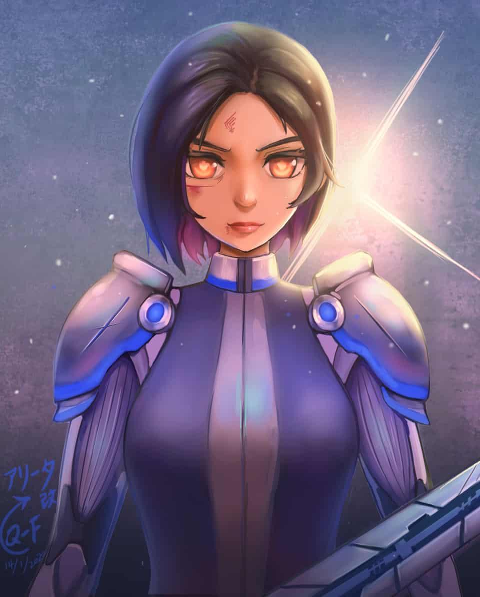 アリータ改 Illust of Q-F Alita:BattleAngel アリータバトル・エンジェル