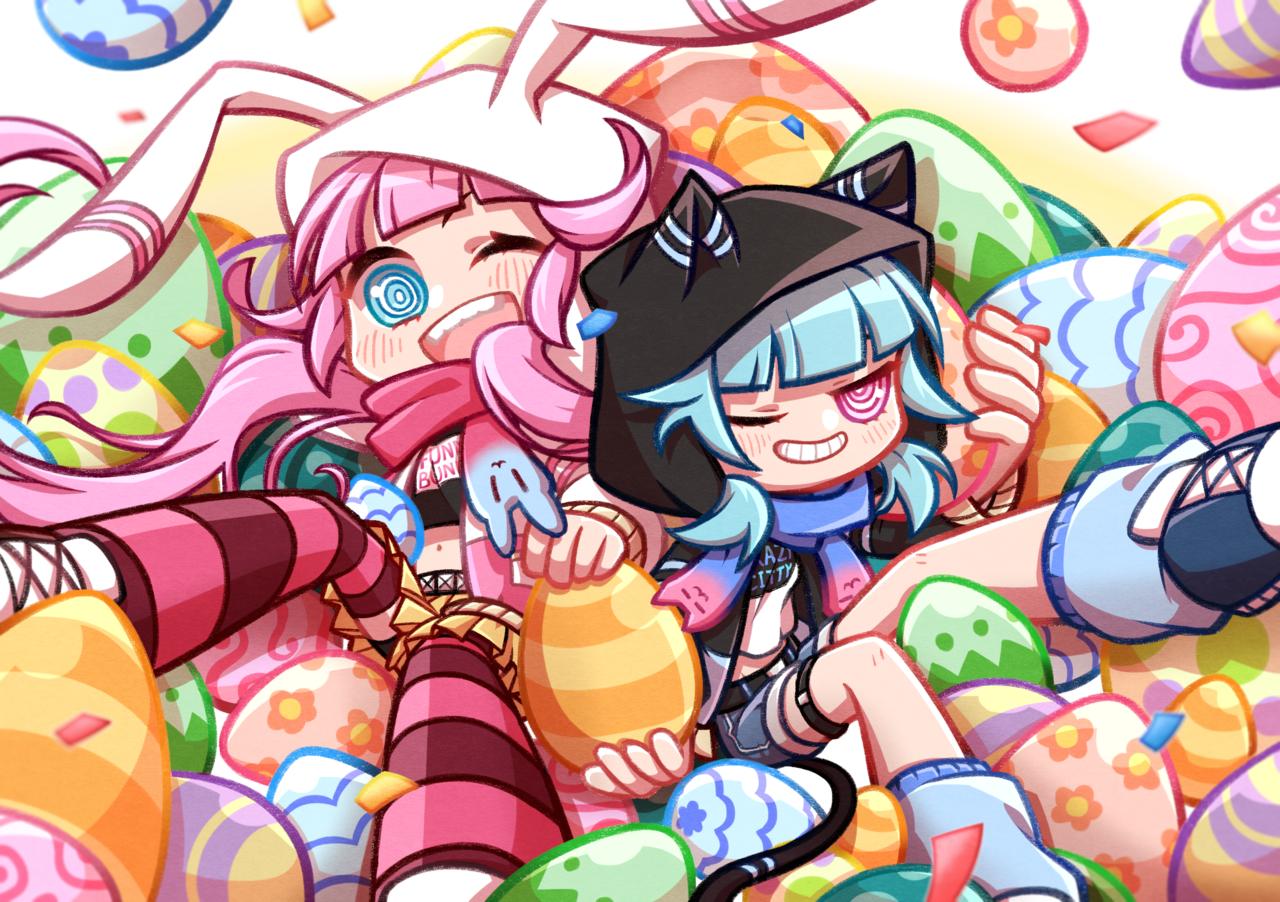 復活節歌夢祭 Illust of 學儀 March.2020Contest:Easter 復活蛋 兔子帽 貓咪帽