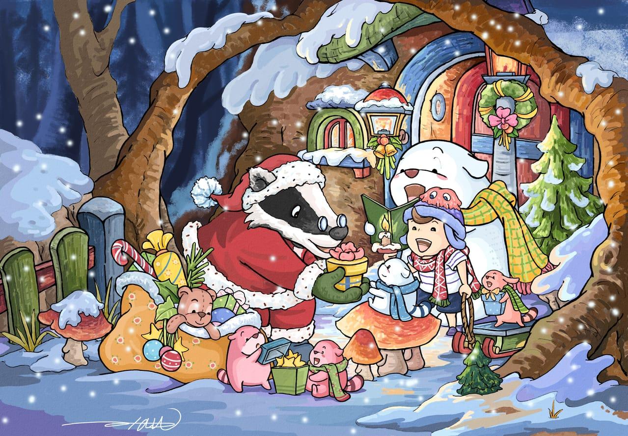 布魯托森林的聖誕佳音 Illust of alan819 December2020_Contest:Santa
