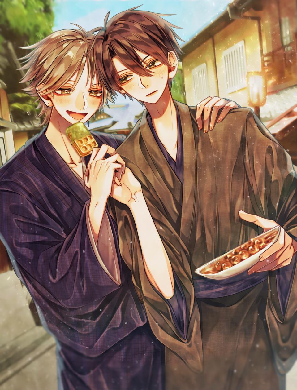 ちょーだい Illust of えぐちえち BL Kyoto_Award2021[illustration] couple boy