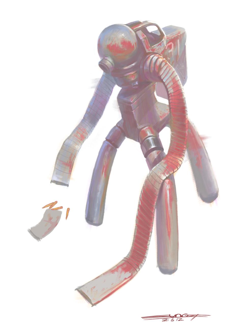 废土弹药装载机器人 Illust of SUN6ZF medibangpaint impasto 废土 机器人 illustration 机械