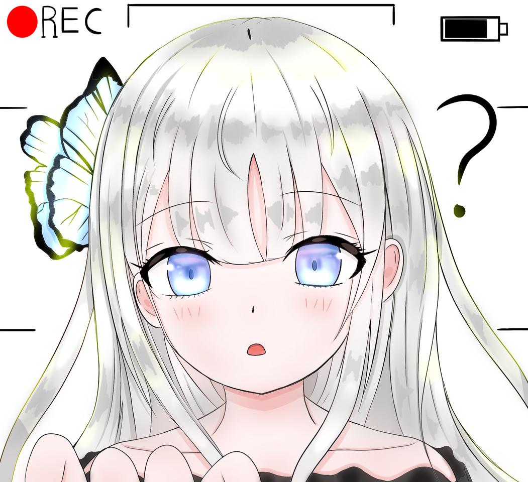 What are you doing darling?? ?_? Illust of 츠키시로(月白) medibangpaint 데이트 girl white_hair original oc