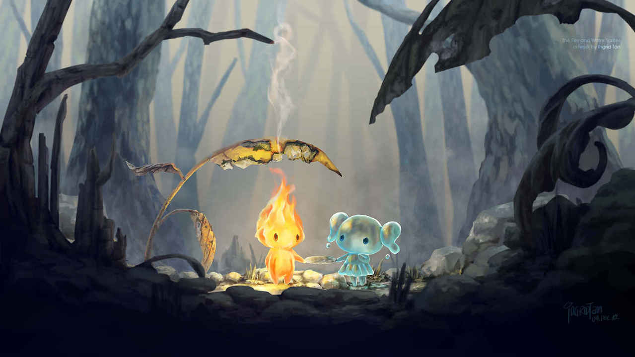 Fire Sprite and Water Sprite