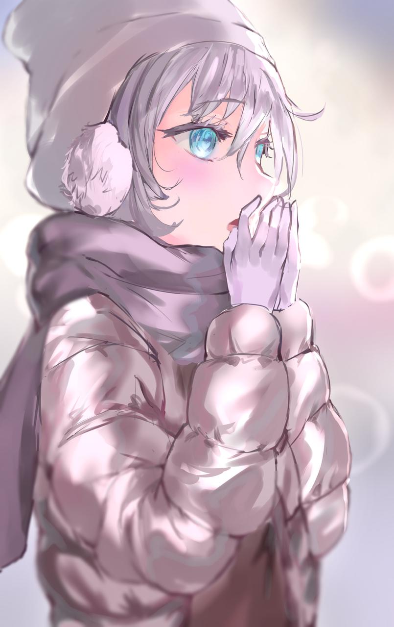 ダウンコートの女の子 Illust of Mile winter おんなのこ ダウンコート kawaii