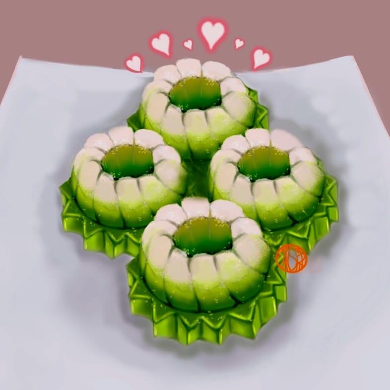 Malaysia Tradisional Kuih Seri Ayu  Illust of maishiro food maishiro