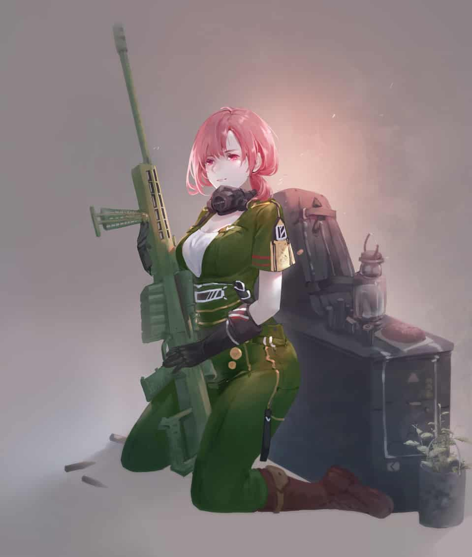 軍武娘 Illust of Peace woman 武器 槍 girl