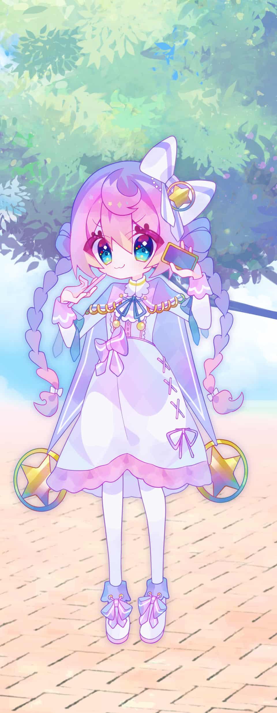 ☆ Illust of 天音れもん PASTEL_SKETCH2020 pastel girl pink