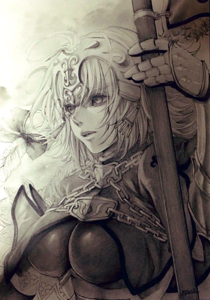 ジャンヌ Illust of 青砂時計 AnalogDrawing Fate/GrandOrder ジャンヌ・ダルク(Fate)