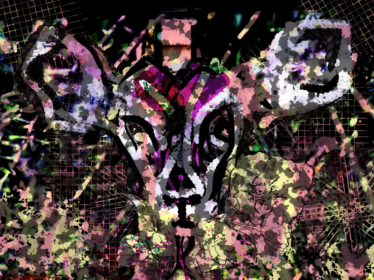 Hi, I'm Geremj Illust of Grandicelli Susanna June2021_Anthropomorphism skirt digitale Tecnica maschera animale effetti