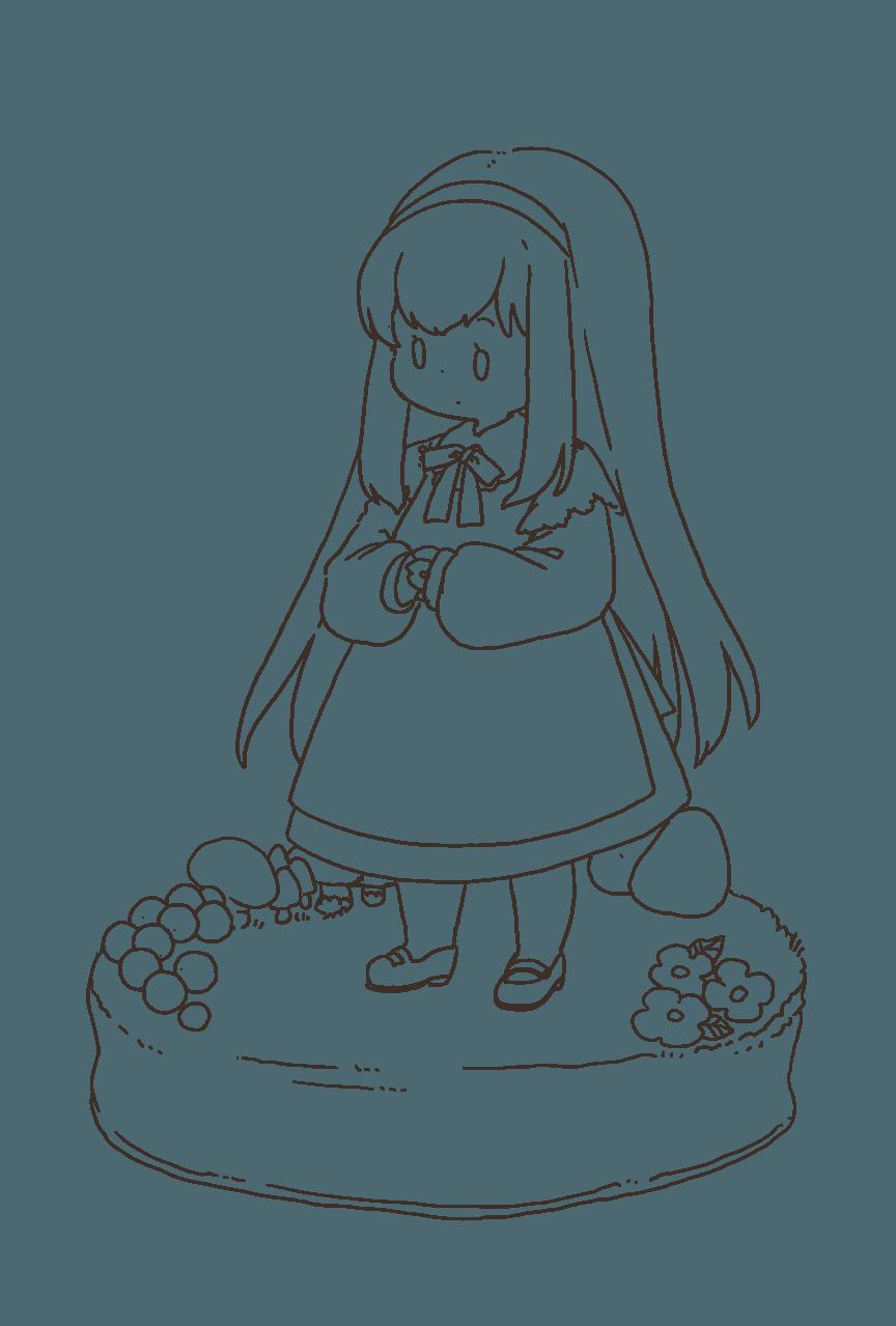 アリスちゃん Illust of 笑い猫 塗り絵 girl original Alice