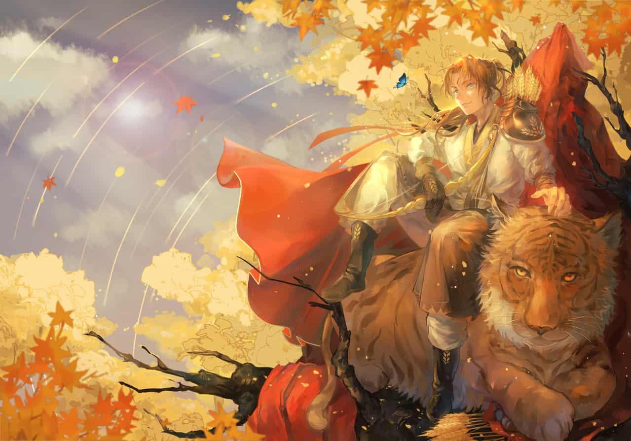 秋の虎 Illust of Amico Sep.2019Contest original