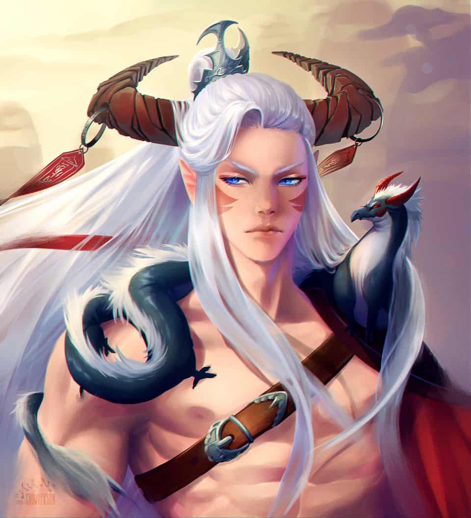 聖龍王子和小蟲 Illust of Crownprynx fantasy characterdesign Easterndragon dragon xianxia