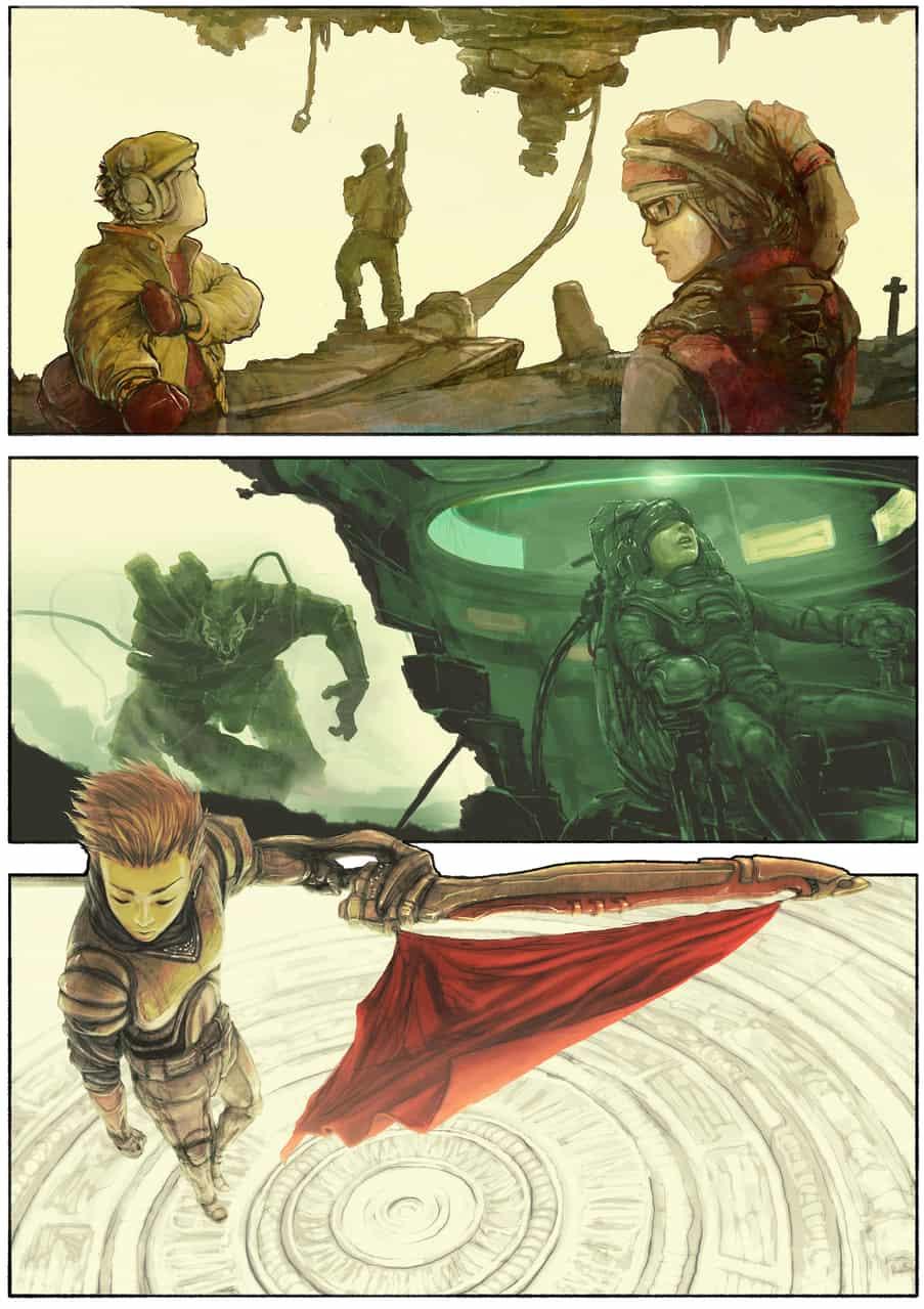 The Rebels, The Challenger, and The King Illust of Coferosa fantasy anime Comics manga scifi