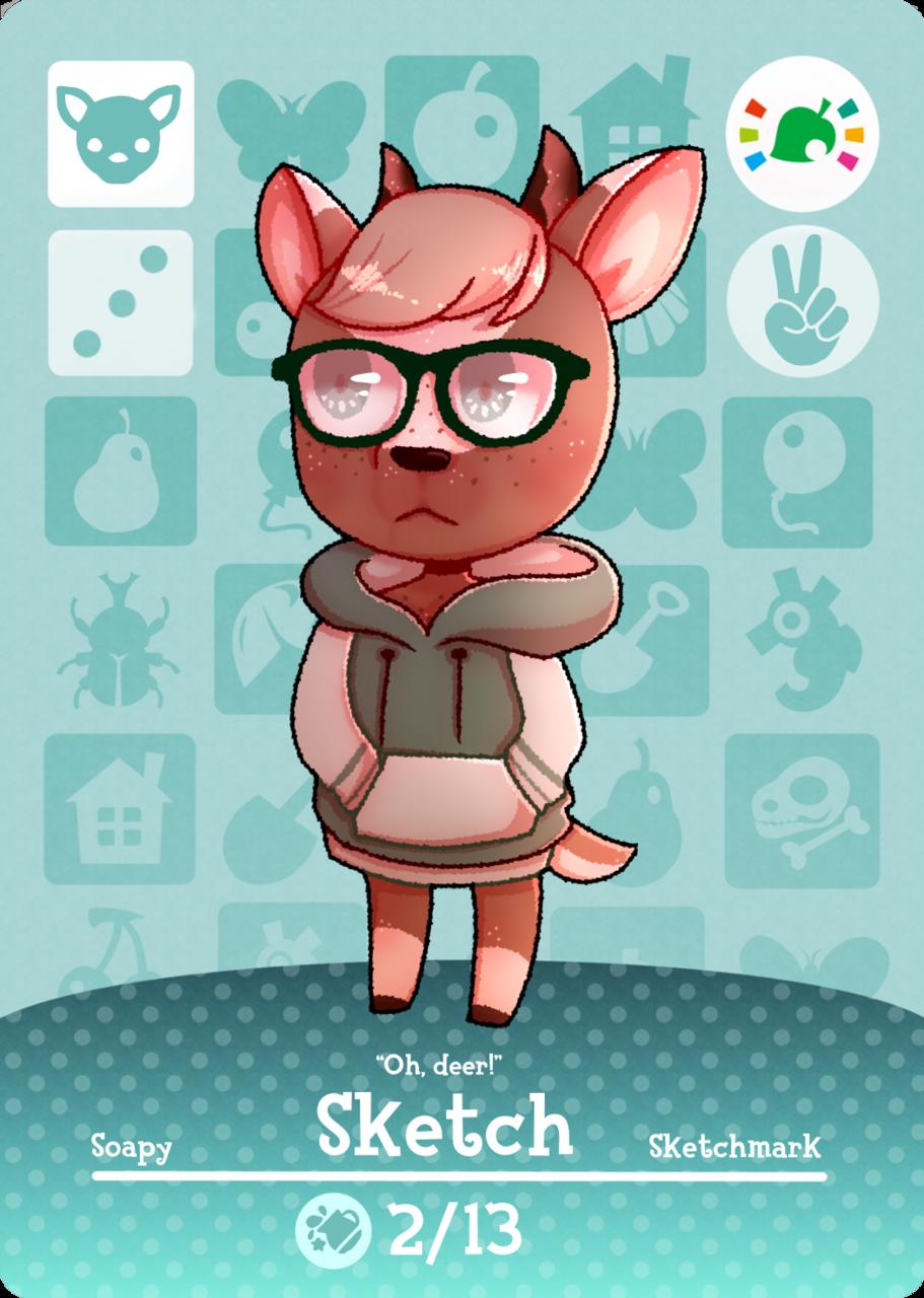 I drew my self as an Animal Crossing villager  Illust of SketchMark213 AnimalCrossing animal ACNH Crossing AmiiboCard