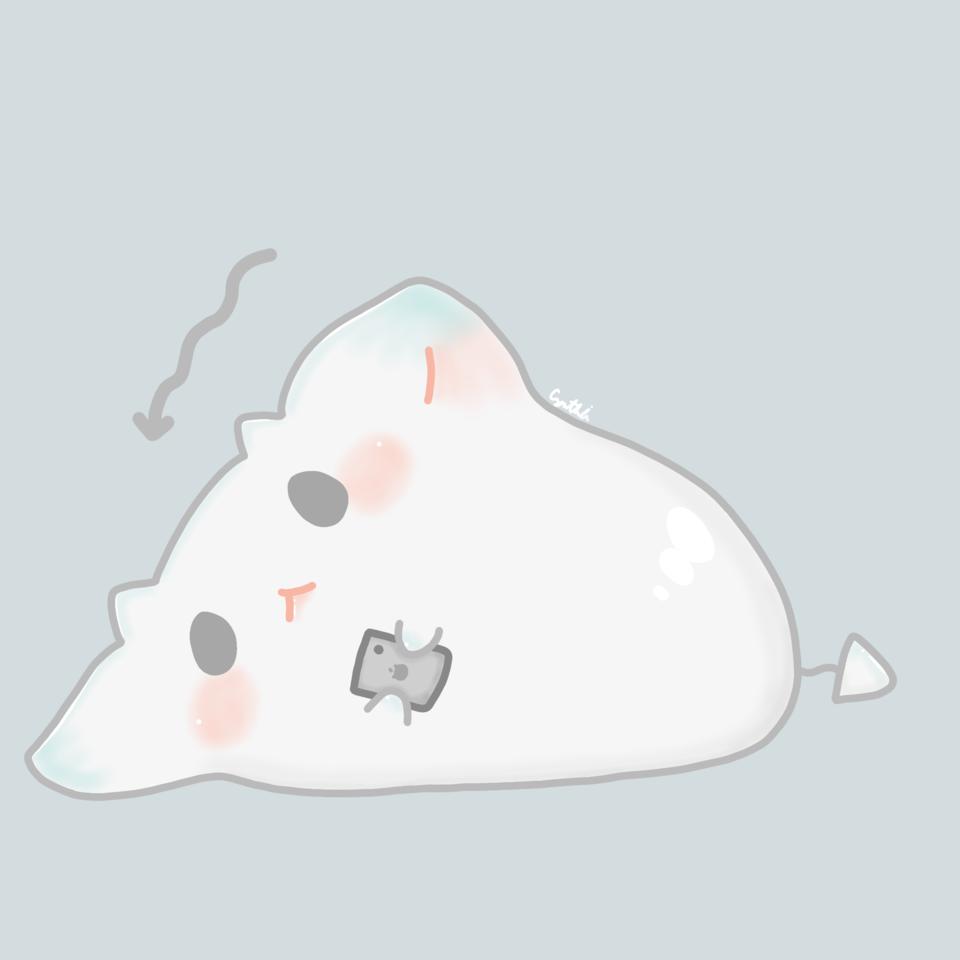 懶懶生物 Illust of 亞 art kawaii illustration medibangpaint cute anime doodle oc manga chibi