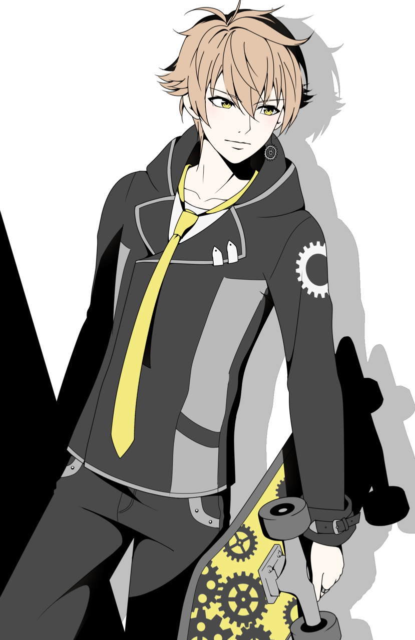 March E. Flaxen  Illust of Bee 48 digital original Gears skateboard boy manga yelloweyes oc