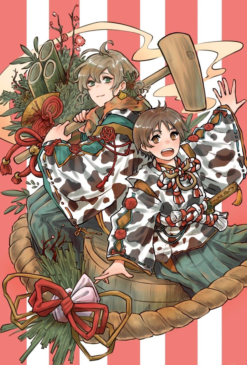謹賀新年 Illust of にいぜき January2021_Contest:OC illustration Japanese_style original kimono newyear