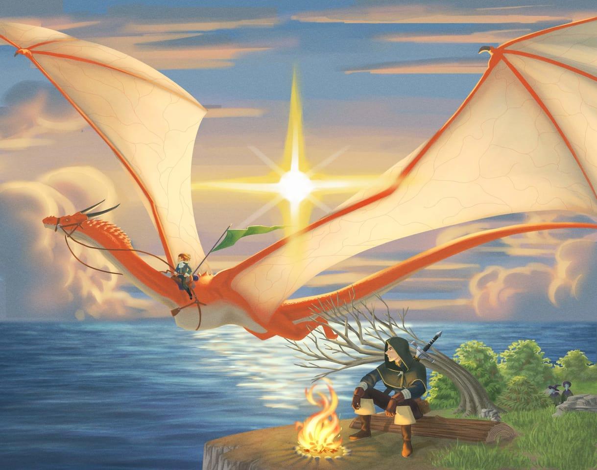 Dragon Flight  Illust of CristóbalCapiz fantasy February2021_Fantasy fantasyart dragon