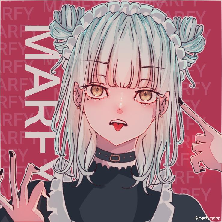 Would you like to order Anything?? Illust of Marfy メンヘラ maid きらきら kawaii girl メルヘン 病みかわいい piercing かっこいい