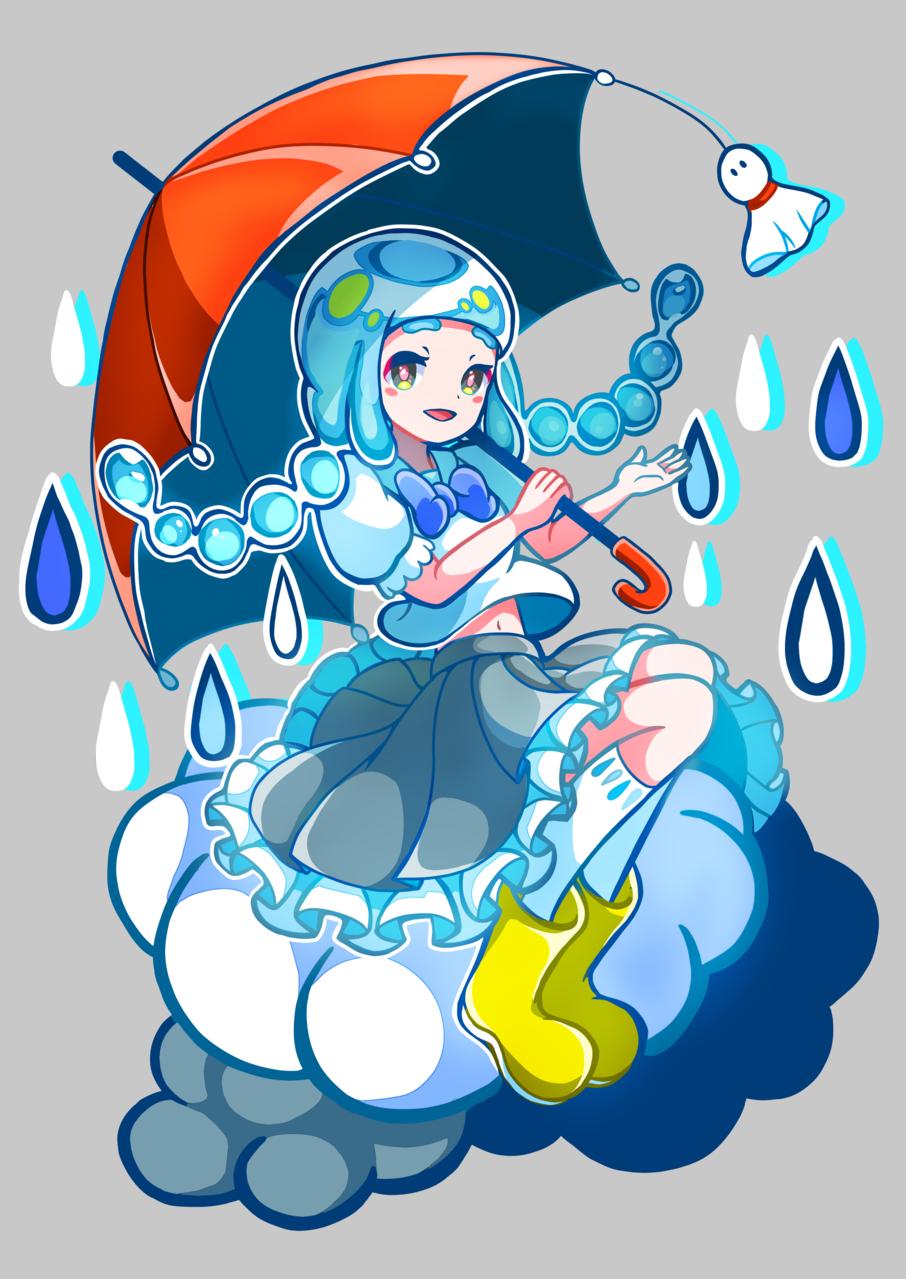 梅雨 Illust of YANAGI girl Personification umbrella rain original twin_ponytails sailor_uniform medibangpaint
